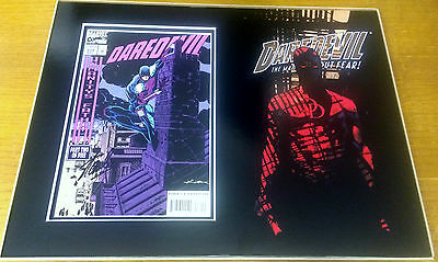 Stan Lee Signed DareDevil comic - Picture Mounted and matted