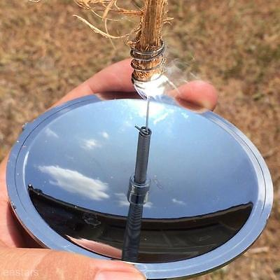Solar Powered Mirror Emergency Fire Starter Lighter For Camping Fishing Climbing