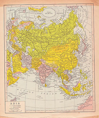1954 Antique Map of Asia
