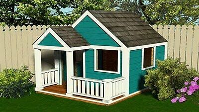 Simple Build Wooden Cubbyhouse Playhouse Plan 6x7.5 CD