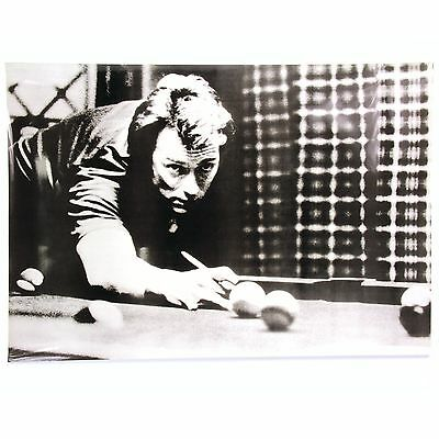CLINT EASTWOOD Playing Pool – Back and White POSTER PRINT