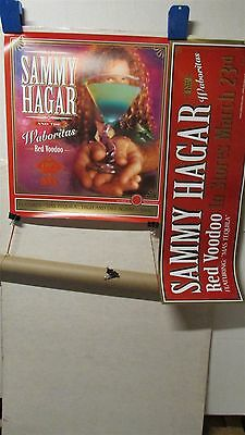 "SAMMY HAGAR Red Voodoo + Advance 18x20"" PROMO CD Store POSTER Lot Of 2 [R300]"