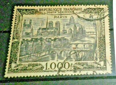 """France 1950 """"view Paris"""" P.a. Used Stamp (Cat.a)"""