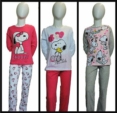 Girls Character Snoopy Long Sleeve Pyjamas/nightwear Age 6 years up to 12 years