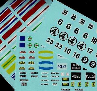 Triang Minic Motorway Transfers/decals