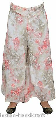Printed Georgette Palazzo Boho Harem Trouser Wide Leg Pant DX39