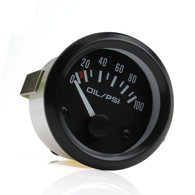 Brand New Universal 2inch 52mm 0-100 Psi LED Auto Car Oil Press Gauge Meter