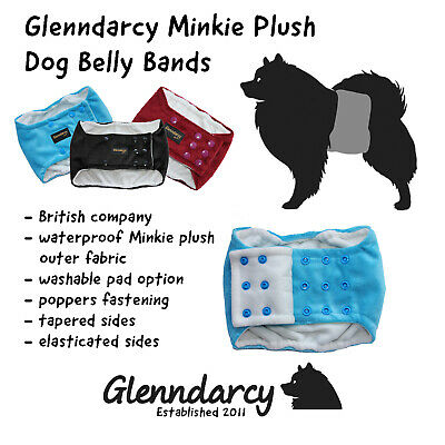 Luxury Minkie Waterproof Dog Belly Band Nappy / Urine Marking /incontinence