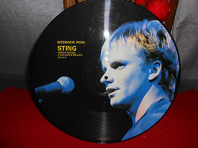 """Sting – Interview With Sting 12"""" UK EX TOP RARE Limited Edition 2.500 Copies"""