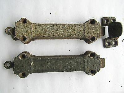 """PAIR of Antique Eastlake Spring Loaded Pull Chain Door Latches - 6-3/4"""""""