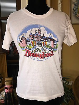 Vintage 1950s 50s Disneyland Magic Kingdom T-Shirt Kids 14/Ladies S or M