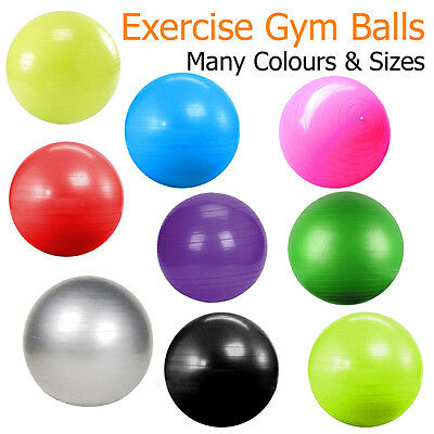 Exercise Balls Gym Ball Swiss Fitness Medicine Tone Workout Legs Back Abdominal