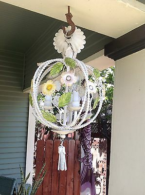 Vintage Italian Polychome Tole Birdcage Chandalier Tres Chic!
