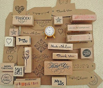 Thank You Rubber Stamps Christmas Weddings Gift Tags Special Occasions Craft