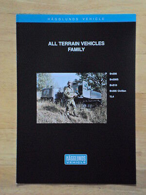 ALVIS HAGGLUNDS All Terrain Vehicles c1998 Military Sales brochure BV206 S10 TL4
