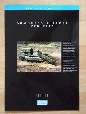 ALVIS HAGGLUNDS Armoured Support Vehicles c1998 Glossy Military Sales brochure
