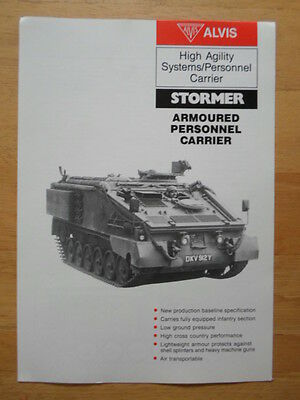 ALVIS STORMER Armoured Personnel Carrier 1984 Military Sales brochure - Tank