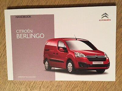 Citroen Berlingo Owners Manual Handbook Genuine