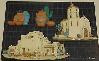 Southwest Western Wall Plaques Sculpture Art HOMCO  Home Interiors Burwood Lot