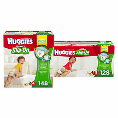 Huggies Little Movers Slip-On Diaper Pants Size 3, 4, 5, 6 PICK SIZE & QUANTITY