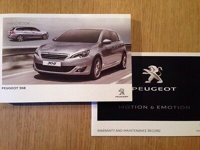 Peugeot 308 Owners Handbook Manual & New Servicebook Genuine