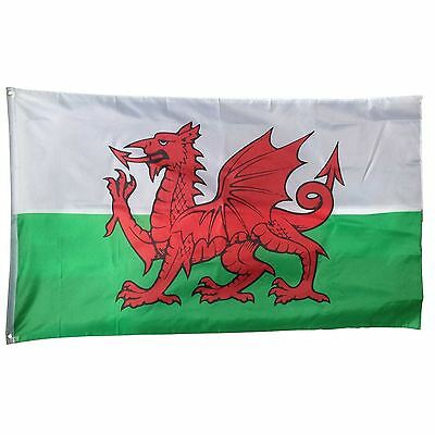 Wales National Flag 5x3ft Polyester World Country Flags World Cup football