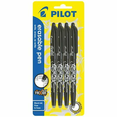 Pilot Frixion Ball Erasable Gel Pens Black 4 Pack