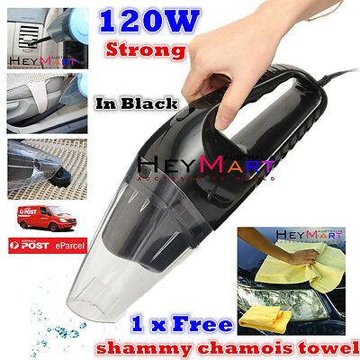 Portable 12V 120W Vacuum Car Vehicle Caravan Handheld Auto Car Vacuum Cleaner