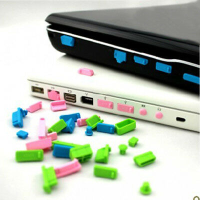 26pc HOT Silicone Laptop Notebook Anti-Dust Plug Port Protector Cover Stopper LI
