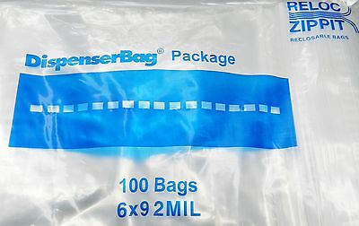 "100 ZIPLOCK BAGS 6x9 CLEAR 2MIL POLY RECLOSABLE BAG 6"" x 9"" ZIP LOCK  100 Pieces"