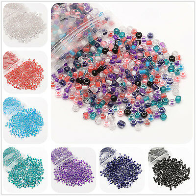 32g(env. 500pcs) 4mm Verre Ronde Perles Tchèques Seed Beads Fabrication Bijoux\
