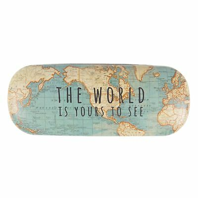Hard Glasses Cases Vintage Map & Golf Spectacle Protector Case By Sass & Bell