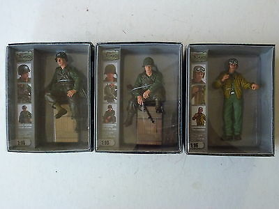 Torro 1/16 Hand-Painted Tank Crew Figures - US Tank Commander & Riders -Set of 3