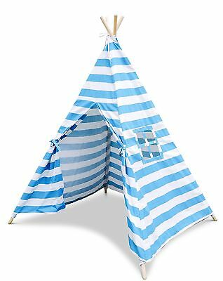 Blue And White Striped Children's Teepee / Wigwam / Play Tent / Play House Baby