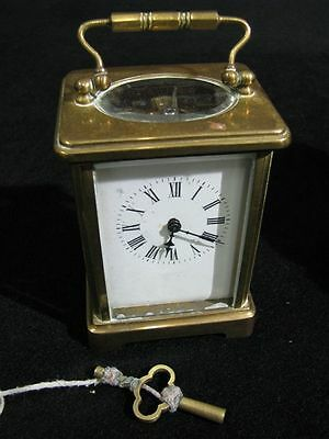 19th Century Carriage Clock with Key and Original Travel Case