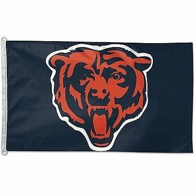 Chicago Bears Double Sided Indoor Outdoor Flag 3 x 5 Feet NEW