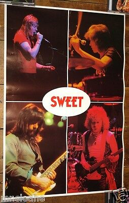 The Sweet Extremely Rare Authentic Original Official 1978 Tour Concert Poster