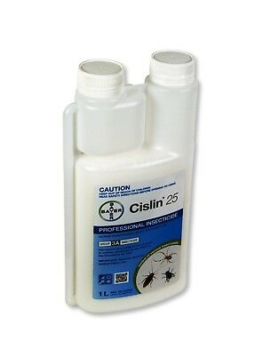 Cislin 25 1L Bayer Professional Insecticide Ant Roach Bed Bug Mites Pest Spray