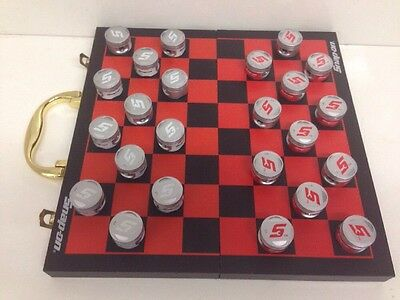 Snap-On Die-Cast Checkers Pistons Set Game Draughts Board