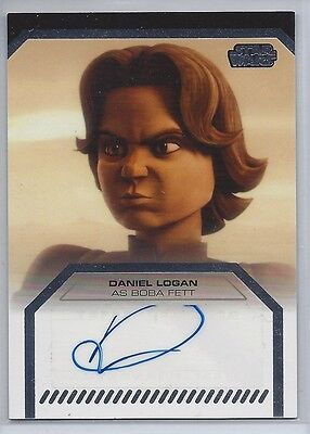 Star Wars Galactic Files Autograph Daniel Logan