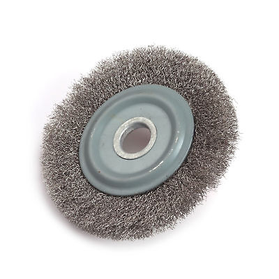 4 Inch 0.15mm Wire Flat - Type Stainless Steel Wire Wheel Round Wire Brush 5Pcs