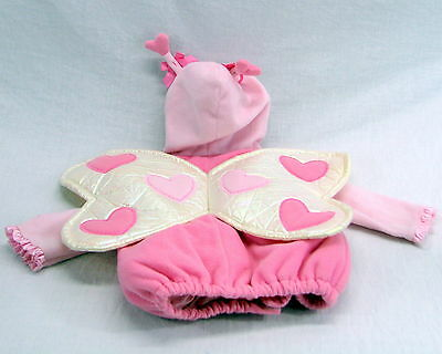 Old Navy Baby Pink Butterfly Halloween Costume Jacket Coat Size 6-12 Months