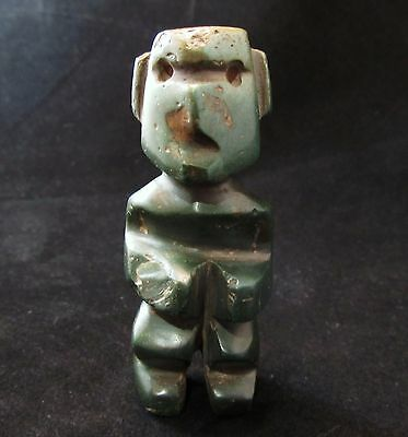 Pre-Columbian Mezcala Carved Stone Jade Idol  ~ Extremely Rare!