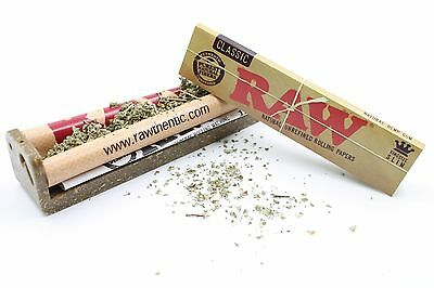 BUNDLE: RAW 110mm Hemp Plastic Rolling Machine +One Pack of King Size Papers