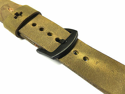Quality Handmade Brown Leather Watch Strap Band  For Apple Watch Series 2 42mm