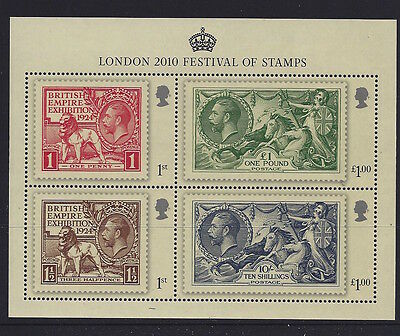 Great Britain 2010 Festival of Stamps MS Stamp Set