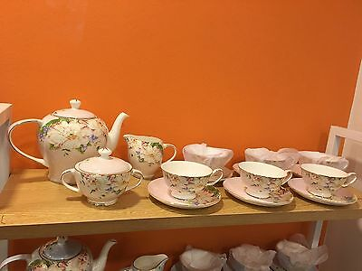 English Tea Sets (pink) 15 pieces Great Discount