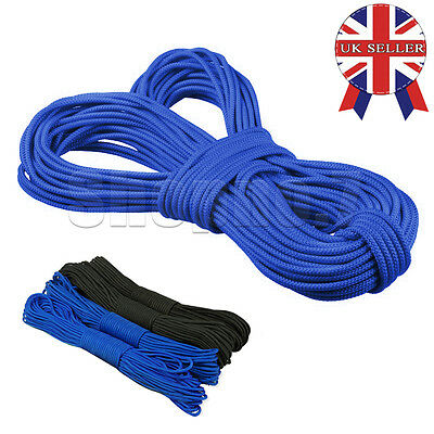 50/100FT 550 Paracord Parachute Cord Lanyard Mil Spec Type III 7 Strand Core UK