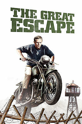 Steve McQueen The Great Escape SMTG01 LARGE POSTER ART PRINT A4 A3 A2 A1
