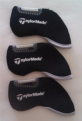 10 x Iron Head Covers - Suit TaylorMade - New - Black